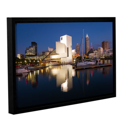 Brushstone Cleveland Skyline 3 Gallery Wrapped Floater-Framed Canvas Wall Art