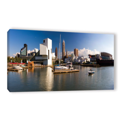 Brushstone Cleveland Skyline 4 Gallery Wrapped Canvas Wall Art