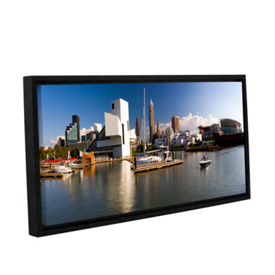 Brushstone Cleveland Skyline 4 Gallery Wrapped Floater-Framed Canvas Wall Art