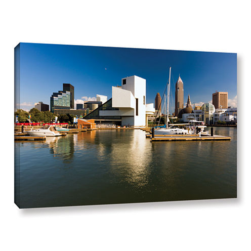 Brushstone Cleveland Skyline 5 Gallery Wrapped Canvas Wall Art