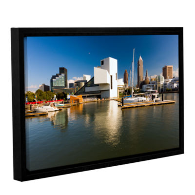 Brushstone Cleveland Skyline 5 Gallery Wrapped Floater-Framed Canvas Wall Art
