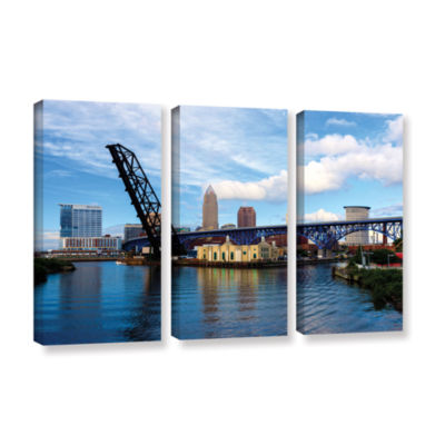 Brushstone Cleveland 12 3-pc. Gallery Wrapped Canvas Wall Art
