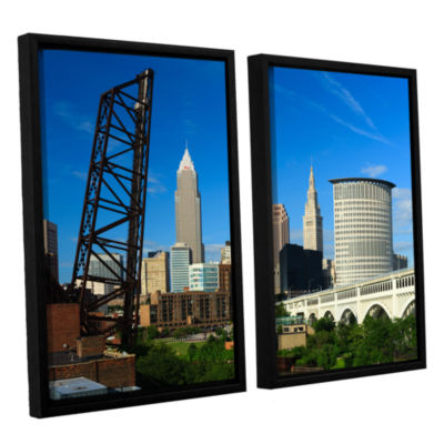 Brushstone Cleveland 13 2-pc. Floater Framed Canvas Wall Art