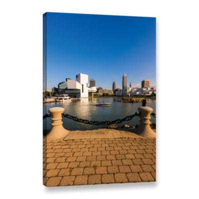 Brushstone Cleveland Skyline 6 Gallery Wrapped Canvas Wall Art