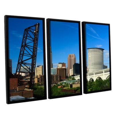 Brushstone Cleveland 13 3-pc. Floater Framed Canvas Wall Art