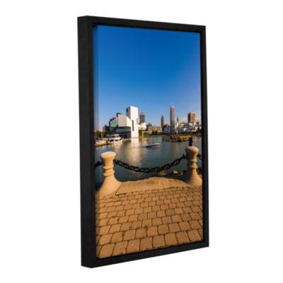Brushstone Cleveland Skyline 6 Gallery Wrapped Floater-Framed Canvas Wall Art