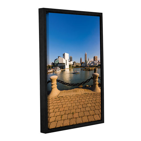 Brushstone Cleveland Skyline 6 Gallery Wrapped Floater-Framed Canvas Wall Art