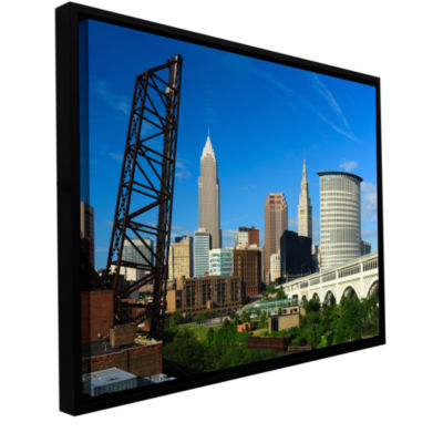 Brushstone Cleveland 13 Gallery Wrapped Floater-Framed Canvas Wall Art
