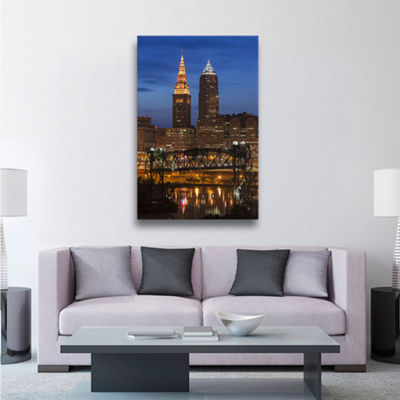 Brushstone Cleveland 14 Gallery Wrapped Canvas Wall Art