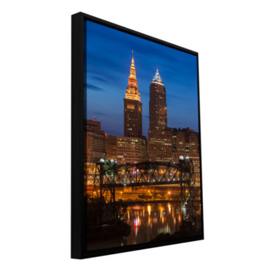 Brushstone Cleveland 14 Gallery Wrapped Floater-Framed Canvas Wall Art