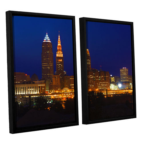 Brushstone Cleveland 15 2-pc. Floater Framed Canvas Wall Art