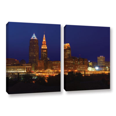 Brushstone Cleveland 15 2-pc. Gallery Wrapped Canvas Wall Art