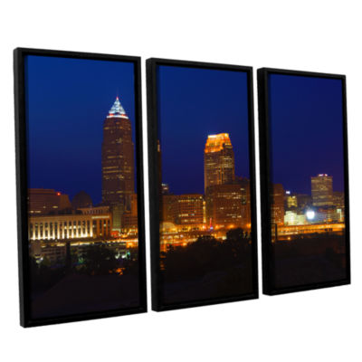 Brushstone Cleveland 15 3-pc. Floater Framed Canvas Wall Art