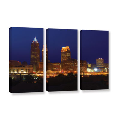 Brushstone Cleveland 15 3-pc. Gallery Wrapped Canvas Wall Art