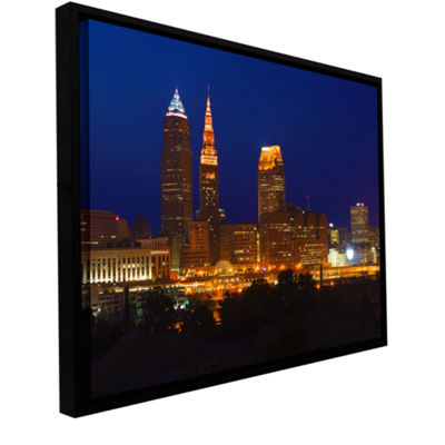 Brushstone Cleveland 15 Gallery Wrapped Floater-Framed Canvas Wall Art