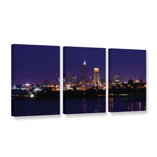 Brushstone Cleveland 16 3-pc. Gallery Wrapped Canvas Wall Art