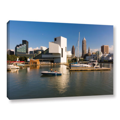 Brushstone Cleveland Skyline 7 Gallery Wrapped Canvas Wall Art