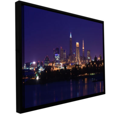 Brushstone Cleveland 16 Gallery Wrapped Floater-Framed Canvas Wall Art