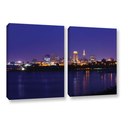 Brushstone Cleveland 18 2-pc. Gallery Wrapped Canvas Wall Art