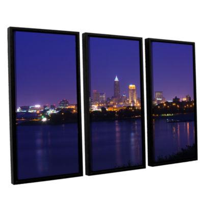 Brushstone Cleveland 18 3-pc. Floater Framed Canvas Wall Art
