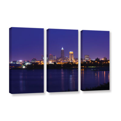 Brushstone Cleveland 18 3-pc. Gallery Wrapped Canvas Wall Art
