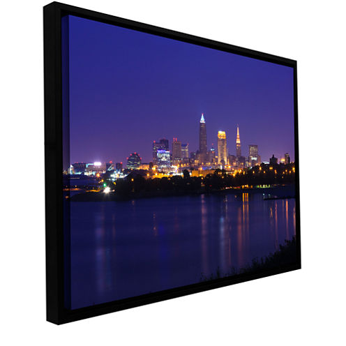 Brushstone Cleveland 18 Gallery Wrapped Floater-Framed Canvas Wall Art