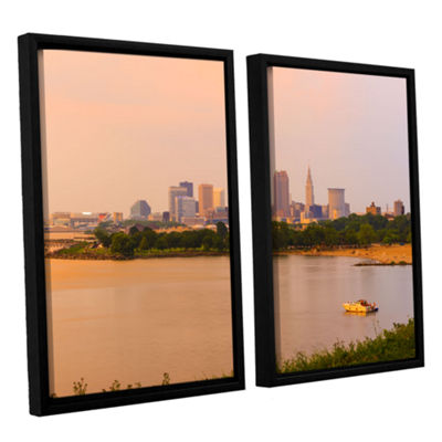 Brushstone Cleveland 19 2-pc. Floater Framed Canvas Wall Art