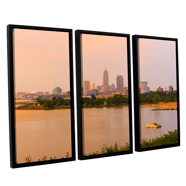 Brushstone Cleveland 19 3-pc. Floater Framed Canvas Wall Art