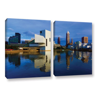Brushstone Cleveland 2 2-pc. Gallery Wrapped Canvas Wall Art