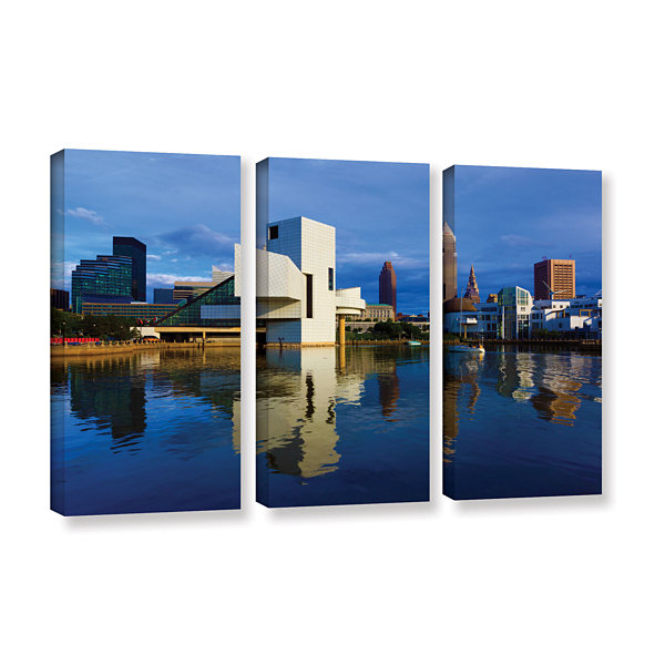 Brushstone Cleveland 2 3-pc. Gallery Wrapped Canvas Wall Art