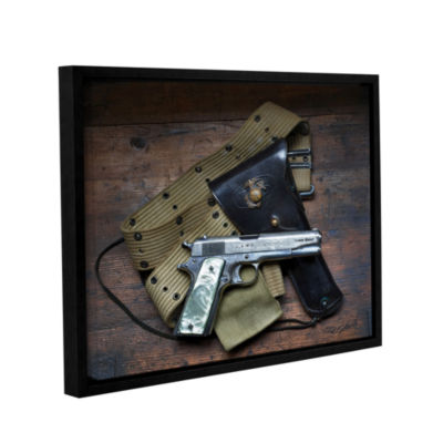 Brushstone Colt And Holster Gallery Wrapped Floater-Framed Canvas Wall Art