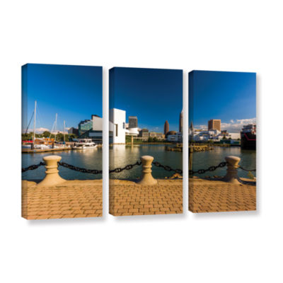 Brushstone Cleveland Skyline 8 3-pc. Gallery Wrapped Canvas Wall Art