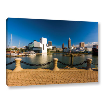 Brushstone Cleveland Skyline 8 Gallery Wrapped Canvas Wall Art