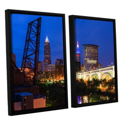 Brushstone Cleveland 21 2-pc. Floater Framed Canvas Wall Art