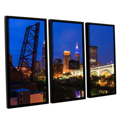 Brushstone Cleveland 21 3-pc. Floater Framed Canvas Wall Art