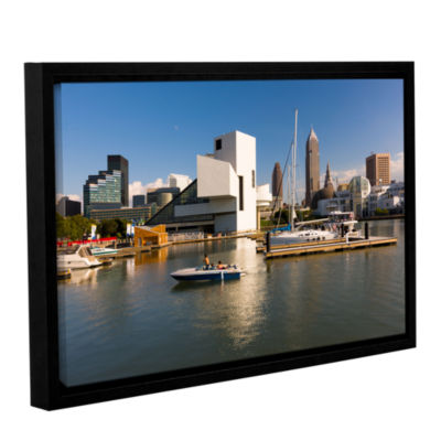 Brushstone Cleveland Skyline 8 Gallery Wrapped Floater-Framed Canvas Wall Art