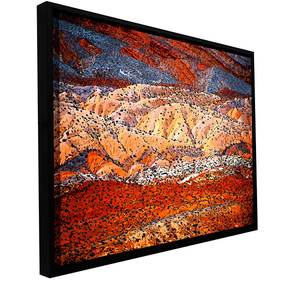 Brushstone Comb Ridge Gallery Wrapped Floater-Framed Canvas Wall Art