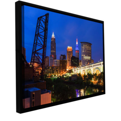 Brushstone Cleveland 21 Gallery Wrapped Floater-Framed Canvas Wall Art