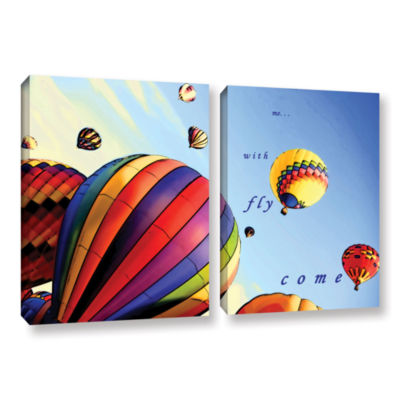 Brushstone Come Fly With Me 2-pc. Gallery Wrapped Canvas Wall Art