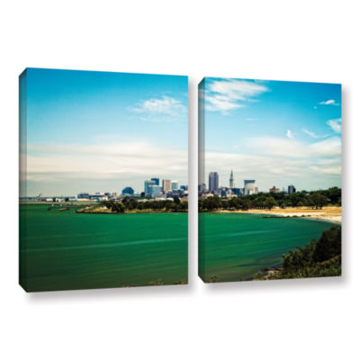 Brushstone Cleveland 22 2-pc. Gallery Wrapped Canvas Wall Art