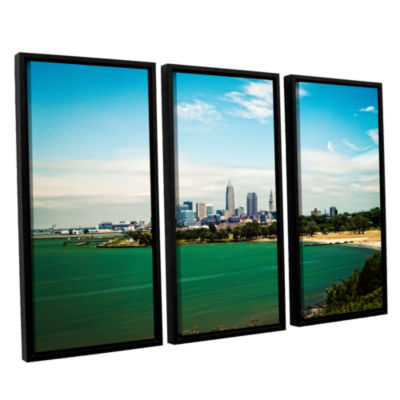Brushstone Cleveland 22 3-pc. Floater Framed Canvas Wall Art