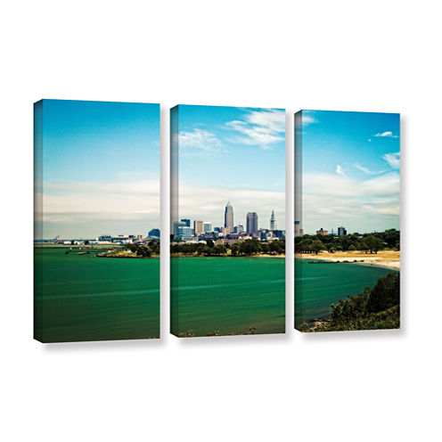 Brushstone Cleveland 22 3-pc. Gallery Wrapped Canvas Wall Art