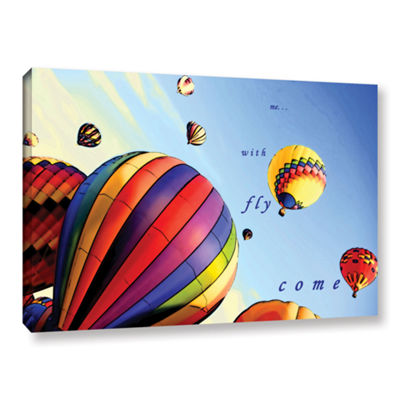 Brushstone Come Fly With Me Gallery Wrapped CanvasWall Art