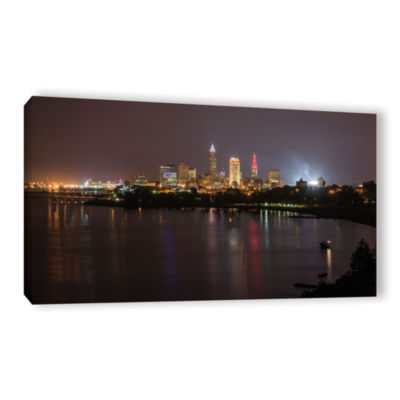 Brushstone Cleveland Skyline 9 Gallery Wrapped Canvas Wall Art