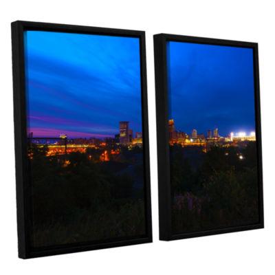 Brushstone Cleveland 3 2-pc. Floater Framed CanvasWall Art