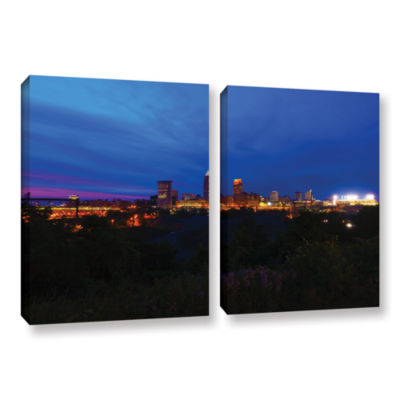 Brushstone Cleveland 3 2-pc. Gallery Wrapped Canvas Wall Art