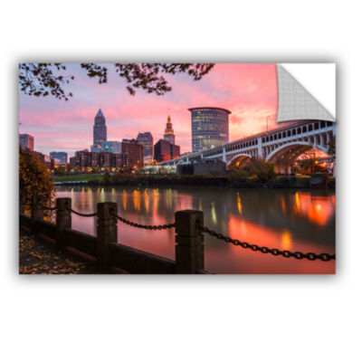 Brushstone Cleveland Sunrise From The Flats Removable Wall Decal