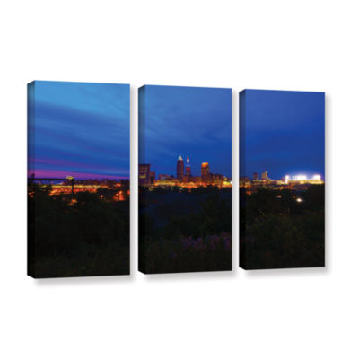 Brushstone Cleveland 3 3-pc. Gallery Wrapped Canvas Wall Art