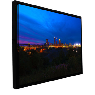 Brushstone Cleveland 3 Gallery Wrapped Floater-Framed Canvas Wall Art