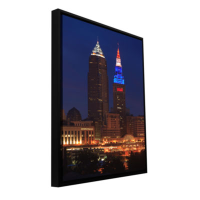 Brushstone Cleveland 4 Gallery Wrapped Floater-Framed Canvas Wall Art